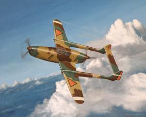 Fokker D-XXIII. Prototype tijdens een van haar laatste vluchten.