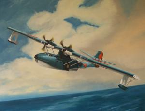 De PBY-A Catalina. PH-PBY zoals ze vloog bij CatAir.