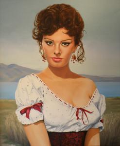 Sophia Loren in haar jonge jaren.